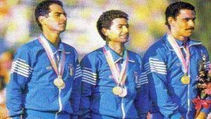 Masala, Massullo e Cristofori sul podio di Los Angeles 1984