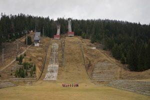 L'impianto del salto con gli sci di Igman: ora è totalmente abbandonato