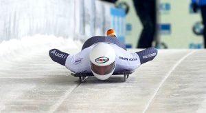 Mattia Gaspari atleta azzurro della nazionale italiana di skeleton italia