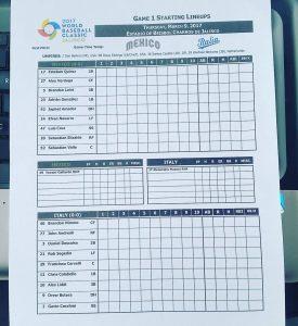 World baseball classic 2017: Italia - Messico, le formazioni ufficiali