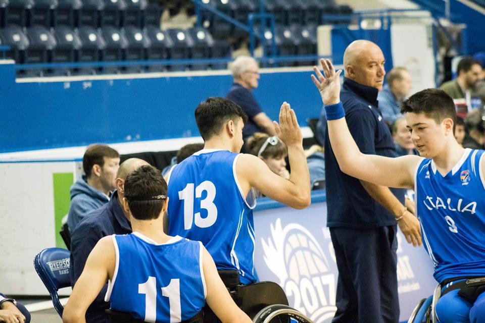 L'Italia ai Mondiali U23 di basket in carrozzina tenutosi in Canada, a Toronto