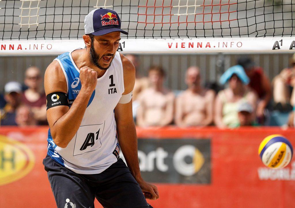 Paolo Nicolai al Mondiale di Beach Volley 2017 a Vienna
