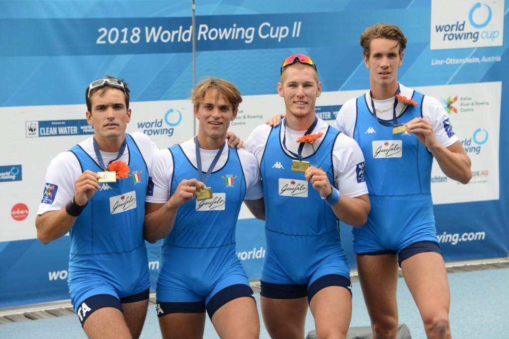 La formazione del quattro senior maschile (photo credit: canottaggio.org)