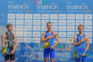 triathlon coppa del mondo 2018 cagliari delian stateff oro davide uccellari bronzo italia world triathlon cup 2018 italia