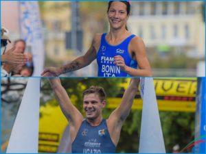 triathlon olimpico campionato italiano 2018 charlotte bonin marcello ugazio tricolore italia elite e under 23 italy lerici