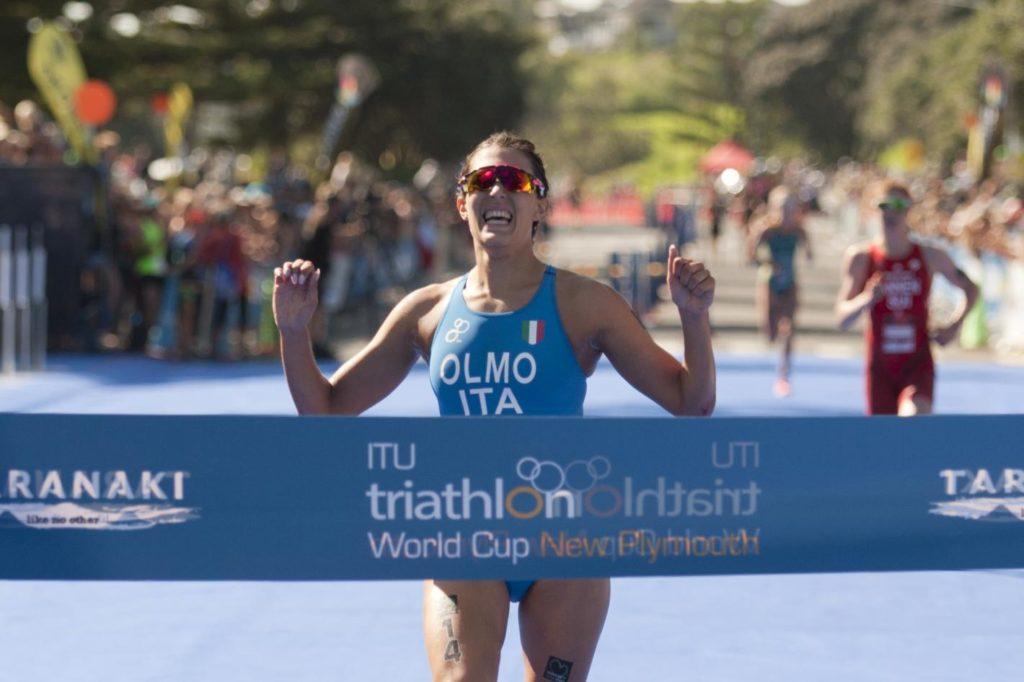 triathlon coppa del mondo 2019 new plymouth angelica olmo prima italia italy winner world triathlon cup world cup 2019 gold
