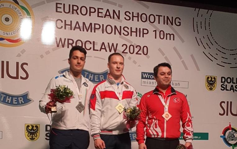 Paolo Monna, argento agli Europei 2020 a 10m di tiro a segno