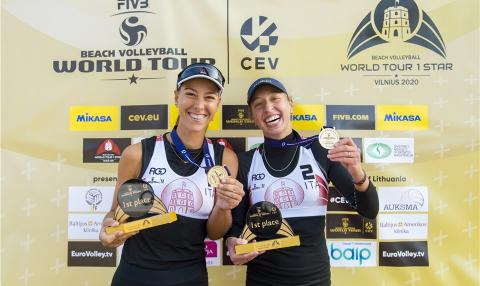 Scampoli/Bianchin vittoriose a Vilnius (LTN) per il Beach Volley World Tour 2020